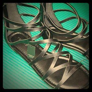 10.5 TORRID Gladiator Sandals NWT chic goth punk